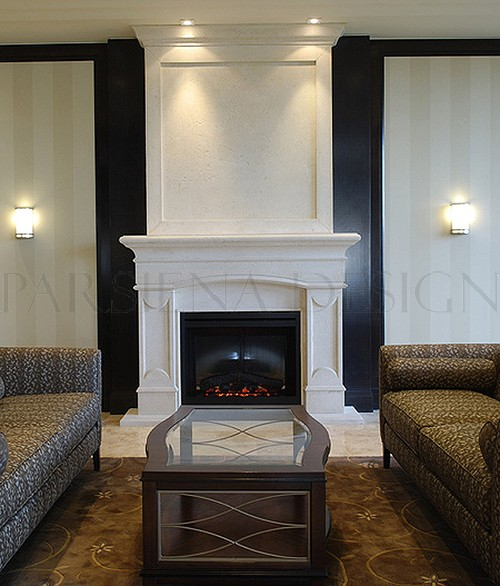 Biagio Stone Mantels For Fireplace